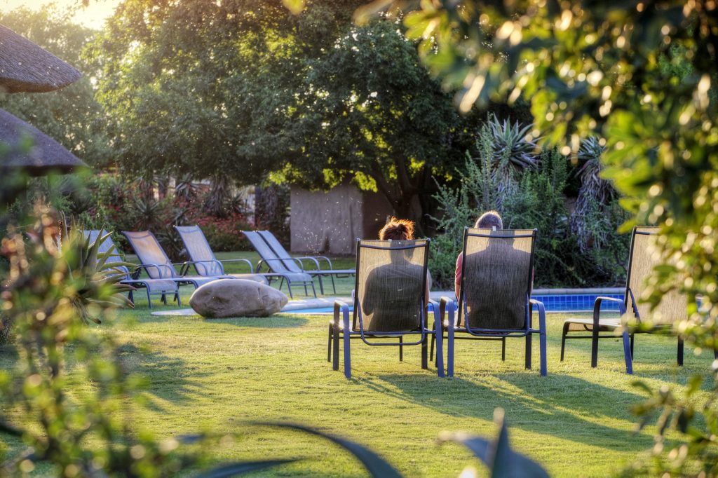 Addo Accommodation Guests at Pool Area 01
