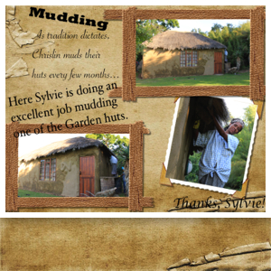 Mudding the Addo Mud Huts