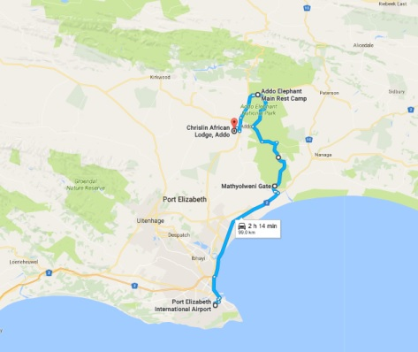 Chrislin Lodge Addo Directions From Port Elizabeth