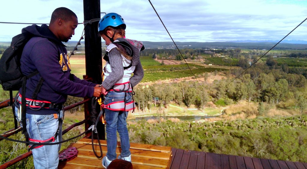 Ziplining Chrislin Family Safari Holiday