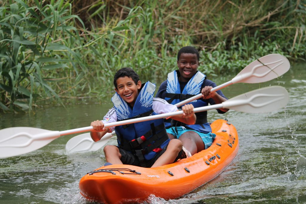 Canoeing on Chrislin Family Safari Holiday