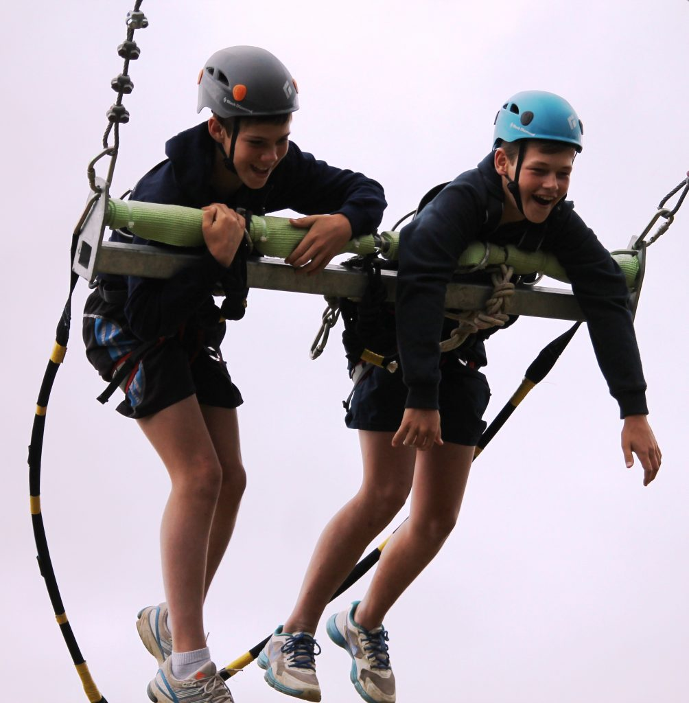 Ziplining on Chrislin Family Safari Holiday