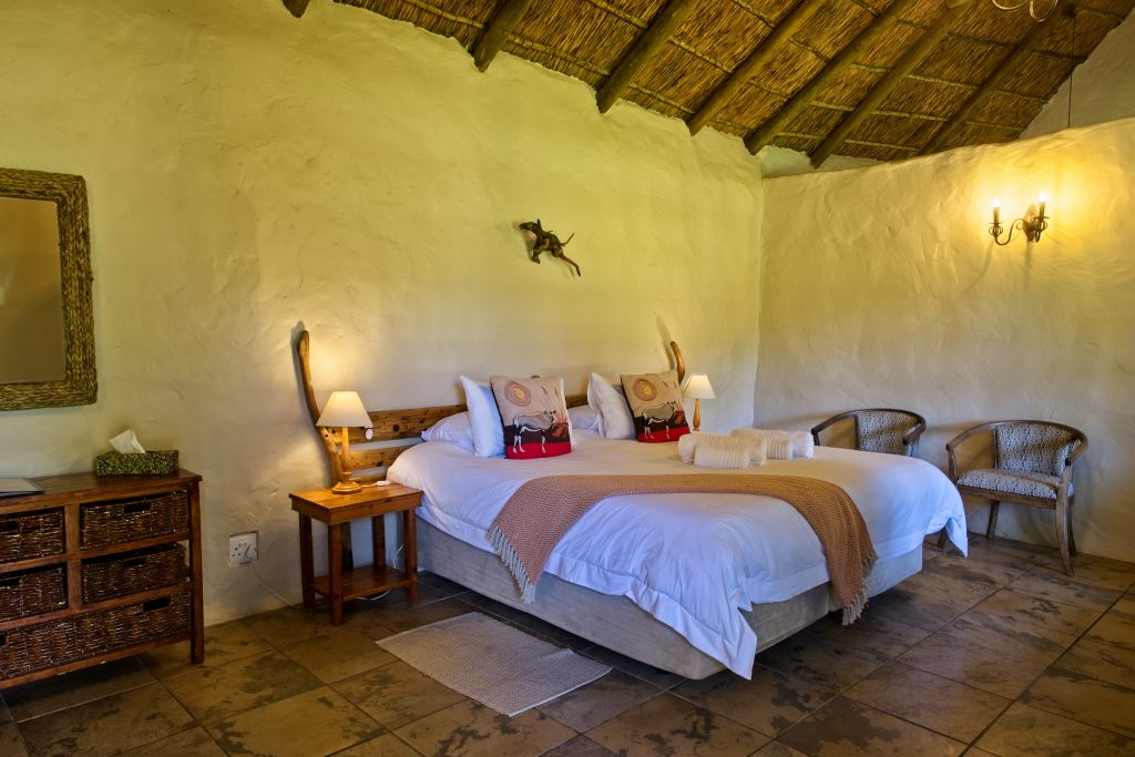 Garden Hut Interior for Winter Addo Accommodation Specials & Packages